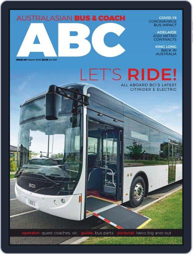 Australasian Bus & Coach (Digital) March 1st, 2020 Issue Cover