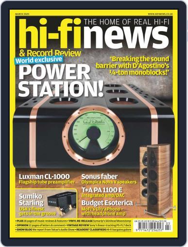Hi Fi News (Digital) March 1st, 2020 Issue Cover