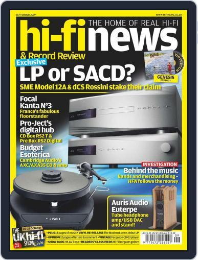 Hi Fi News (Digital) September 1st, 2019 Issue Cover