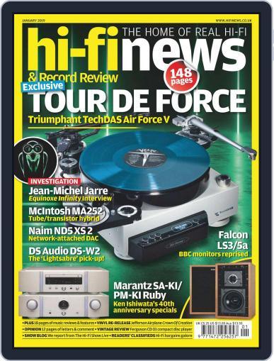 Hi Fi News January 1st, 2019 Digital Back Issue Cover