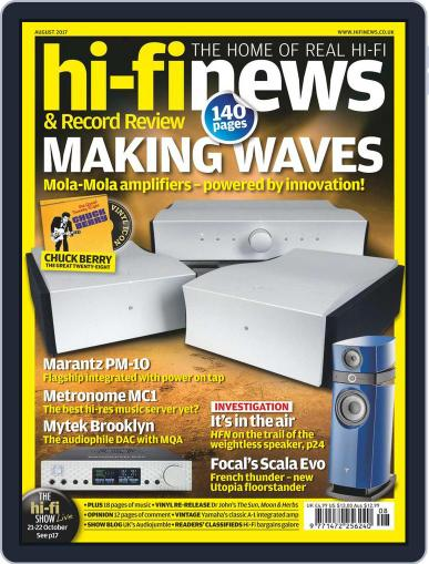 Hi Fi News (Digital) August 1st, 2017 Issue Cover