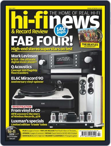 Hi Fi News July 1st, 2017 Digital Back Issue Cover