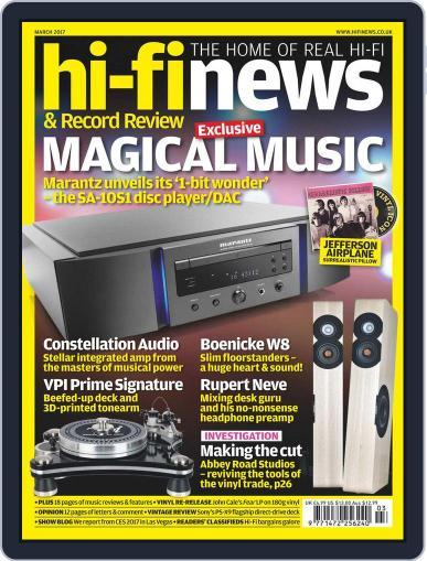 Hi Fi News (Digital) March 1st, 2017 Issue Cover