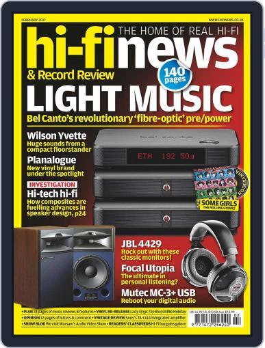 Hi Fi News (Digital) February 1st, 2017 Issue Cover