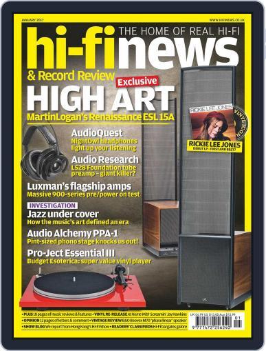 Hi Fi News January 1st, 2017 Digital Back Issue Cover