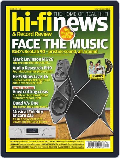 Hi Fi News (Digital) December 1st, 2016 Issue Cover