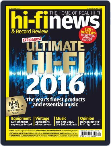 Hi Fi News (Digital) October 1st, 2016 Issue Cover
