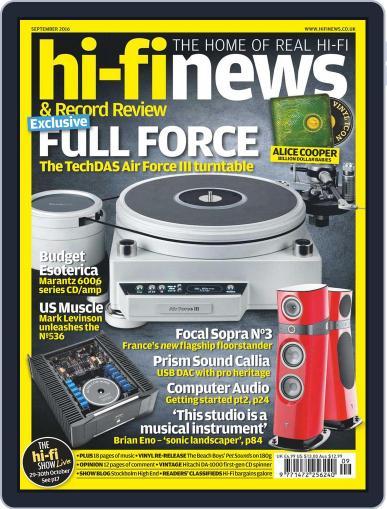 Hi Fi News July 29th, 2016 Digital Back Issue Cover