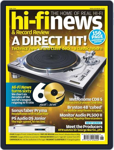 Hi Fi News May 6th, 2016 Digital Back Issue Cover