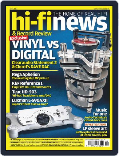 Hi Fi News (Digital) April 1st, 2016 Issue Cover
