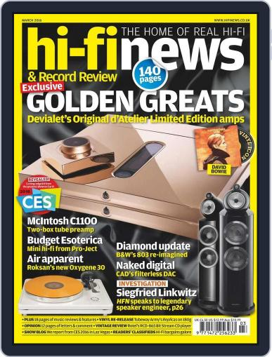 Hi Fi News (Digital) February 12th, 2016 Issue Cover