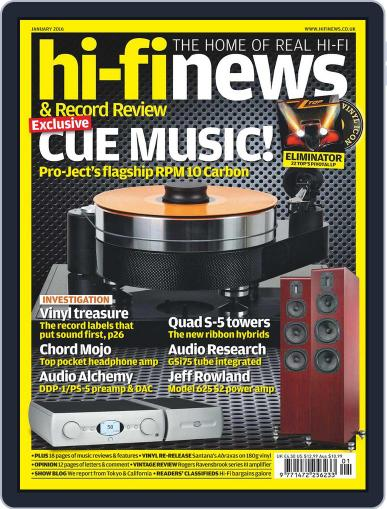 Hi Fi News (Digital) December 11th, 2015 Issue Cover
