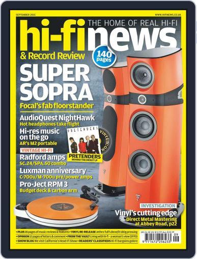 Hi Fi News (Digital) September 1st, 2015 Issue Cover