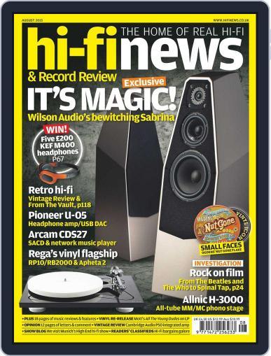 Hi Fi News August 1st, 2015 Digital Back Issue Cover