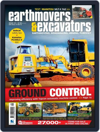 Earthmovers & Excavators (Digital) August 30th, 2015 Issue Cover