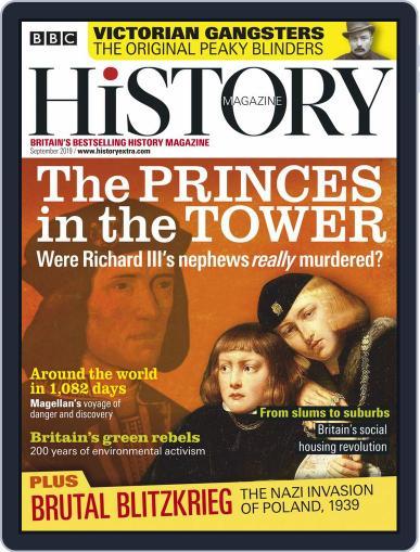 Bbc History (Digital) September 1st, 2019 Issue Cover