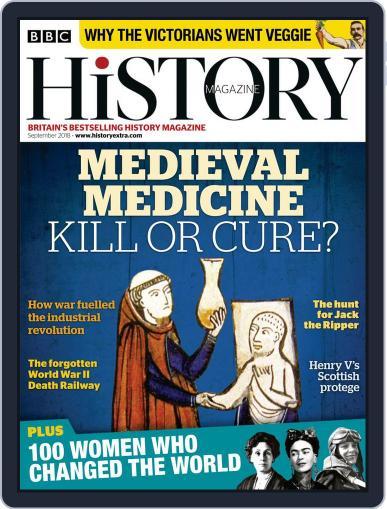 Bbc History (Digital) September 1st, 2018 Issue Cover