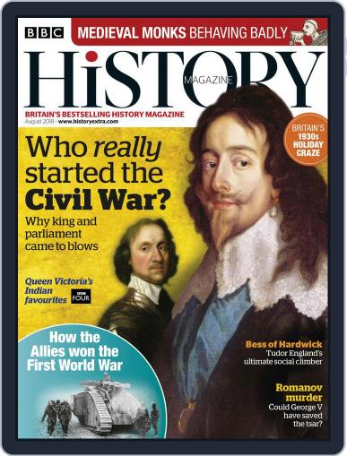 Bbc History (Digital) August 1st, 2018 Issue Cover