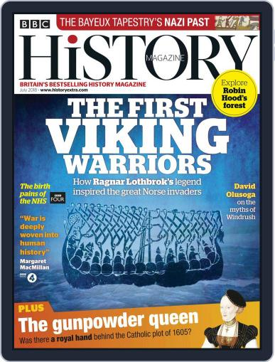 Bbc History July 1st, 2018 Digital Back Issue Cover