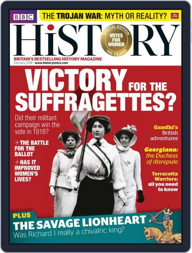 Bbc History February 1st, 2018 Digital Back Issue Cover