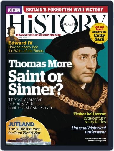 Bbc History April 22nd, 2016 Digital Back Issue Cover