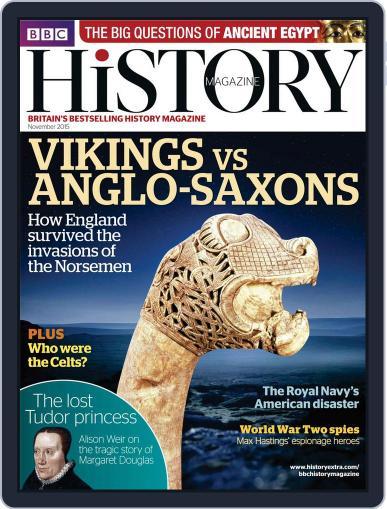 Bbc History (Digital) November 1st, 2015 Issue Cover