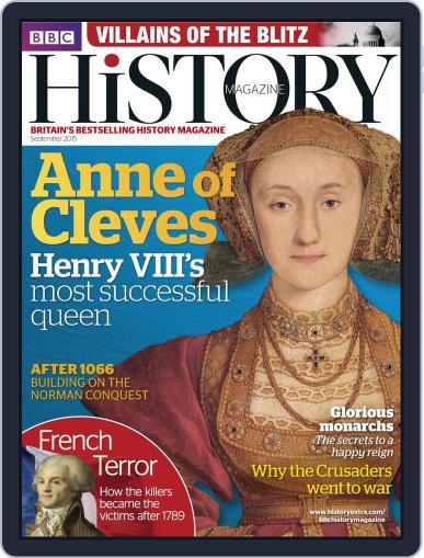 Bbc History (Digital) September 1st, 2015 Issue Cover