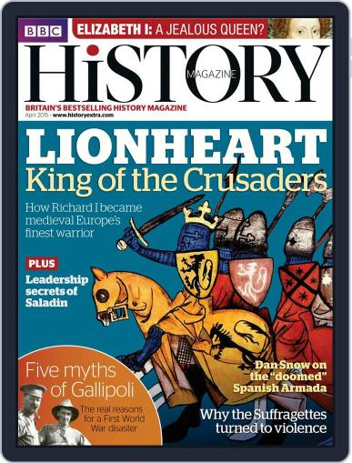 Bbc History (Digital) March 25th, 2015 Issue Cover