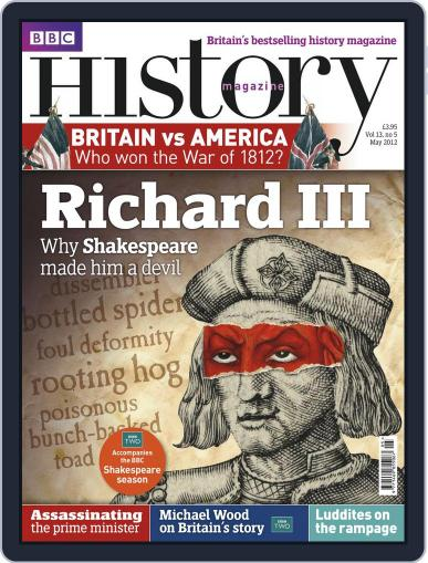 Bbc History April 23rd, 2012 Digital Back Issue Cover