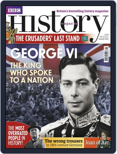 Bbc History January 2nd, 2012 Digital Back Issue Cover