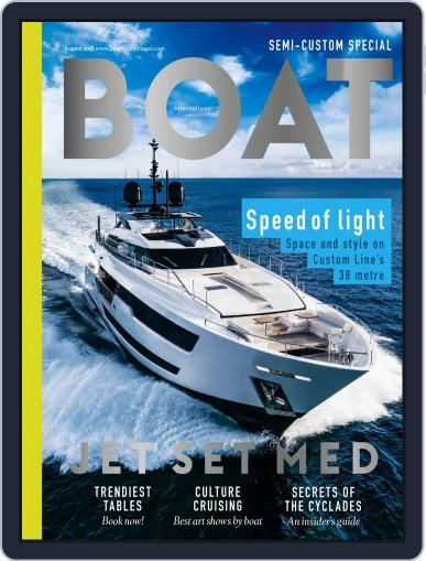 Boat International August 1st, 2018 Digital Back Issue Cover