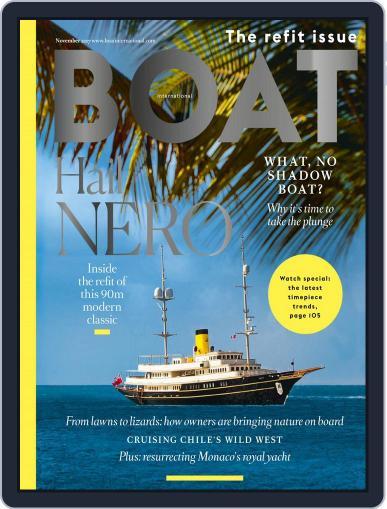 Boat International November 1st, 2017 Digital Back Issue Cover