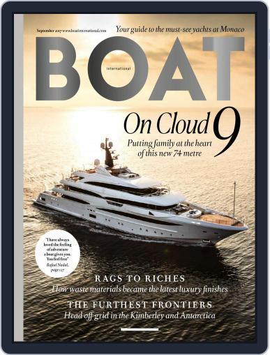 Boat International September 1st, 2017 Digital Back Issue Cover