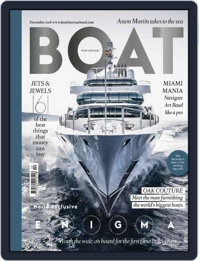 Boat International December 1st, 2016 Digital Back Issue Cover