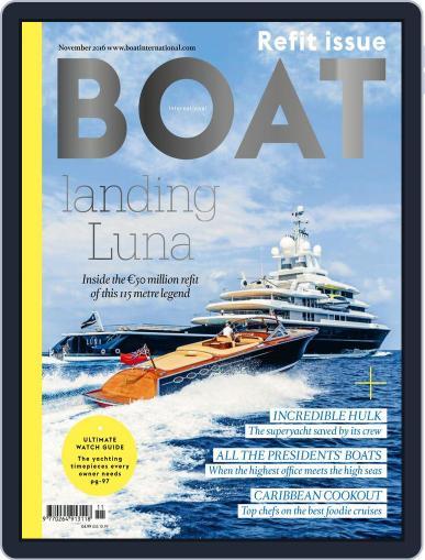 Boat International November 1st, 2016 Digital Back Issue Cover