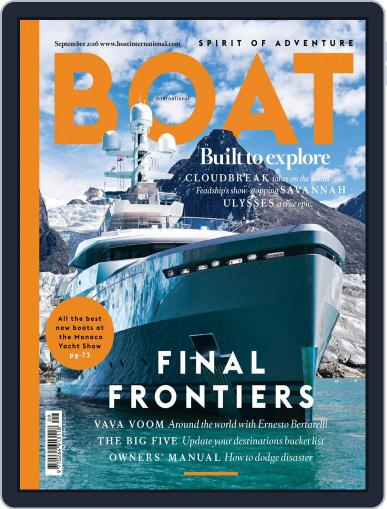 Boat International (Digital) September 1st, 2016 Issue Cover