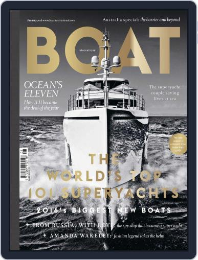 Boat International January 1st, 2016 Digital Back Issue Cover