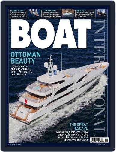 Boat International (Digital) January 9th, 2014 Issue Cover