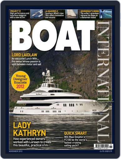 Boat International (Digital) October 18th, 2012 Issue Cover