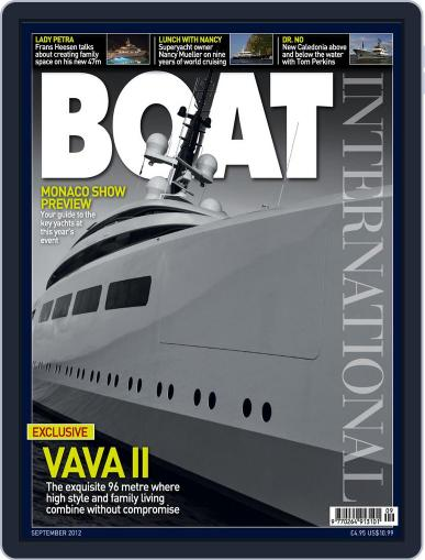 Boat International August 9th, 2012 Digital Back Issue Cover