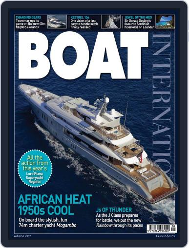 Boat International July 13th, 2012 Digital Back Issue Cover