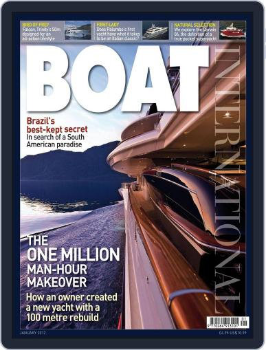 Boat International (Digital) January 13th, 2012 Issue Cover