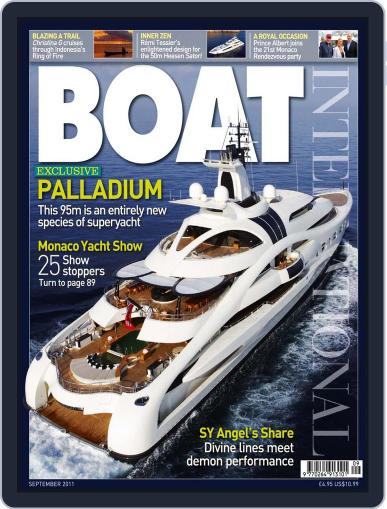 Boat International August 11th, 2011 Digital Back Issue Cover