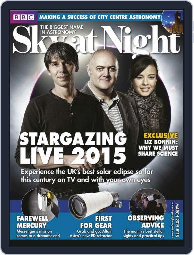 BBC Sky at Night February 28th, 2015 Digital Back Issue Cover