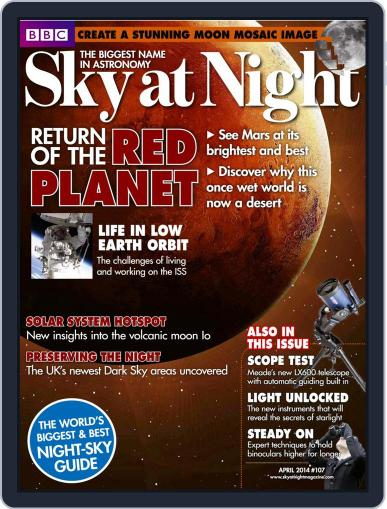 BBC Sky at Night March 21st, 2014 Digital Back Issue Cover