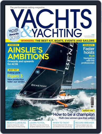 Yachts & Yachting February 1st, 2018 Digital Back Issue Cover
