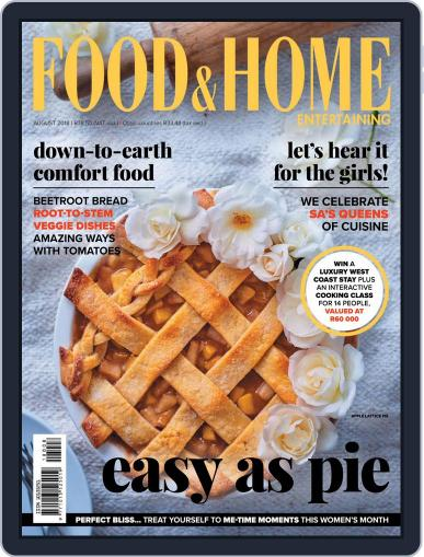 Food & Home Entertaining August 1st, 2018 Digital Back Issue Cover