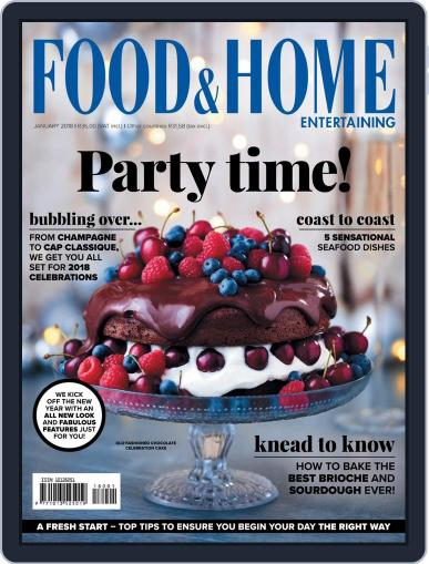 Food & Home Entertaining (Digital) January 1st, 2018 Issue Cover