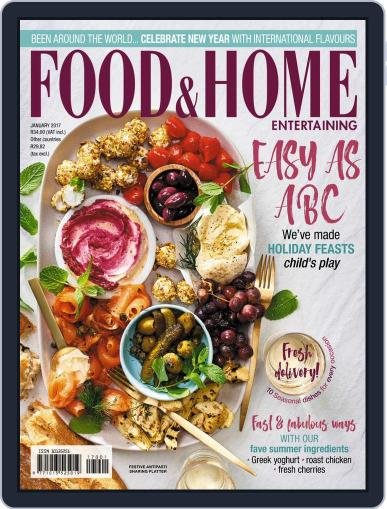 Food & Home Entertaining January 1st, 2017 Digital Back Issue Cover