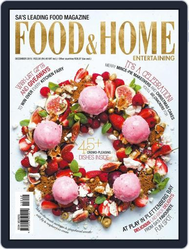 Food & Home Entertaining October 31st, 2015 Digital Back Issue Cover